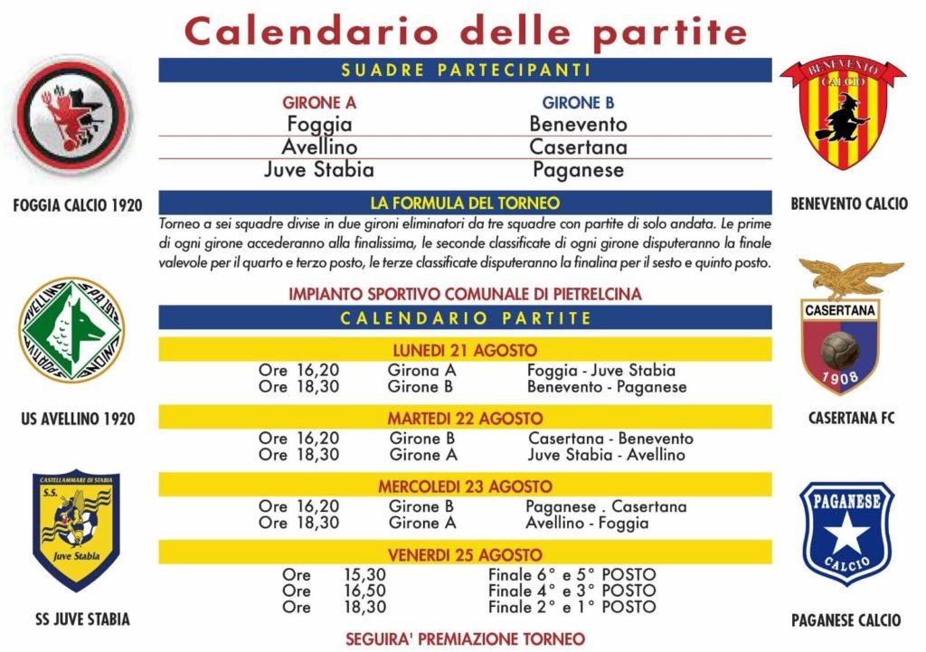 Calendario Benevento Calcio.Programma Torneo Trofeo Shalom 2019